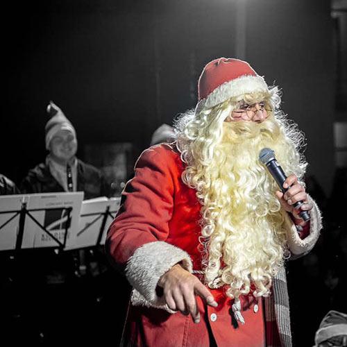 Julemanden Julius ved Julemandens Ankomst i Kolding