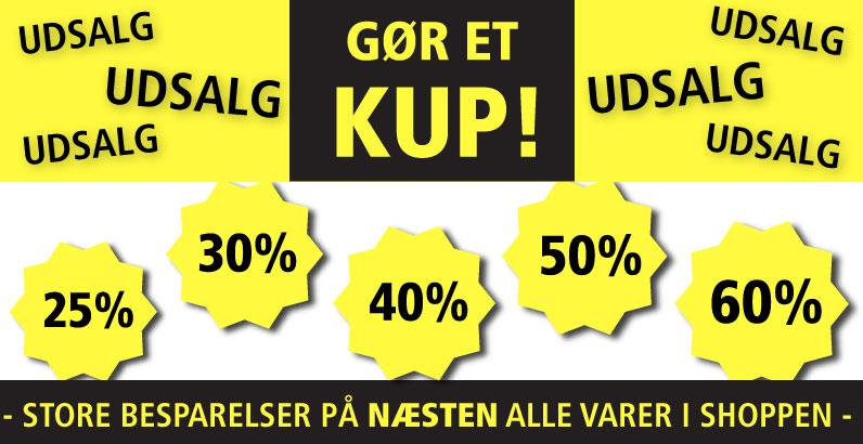 Kæmpe udsalg - Spar op til 60%
